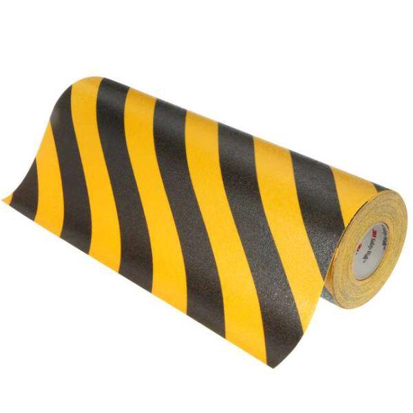 3M Safety-Walk 613 Liukuesteteippi musta/keltainen 102 mm x 18.3 m
