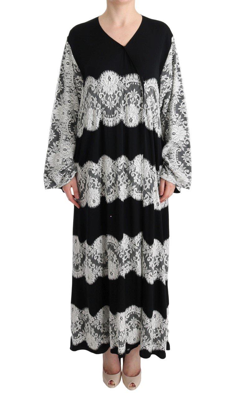 Dolce & Gabbana Women's Floral Applique Kaftan Dress Black SIG60591 - IT40|S