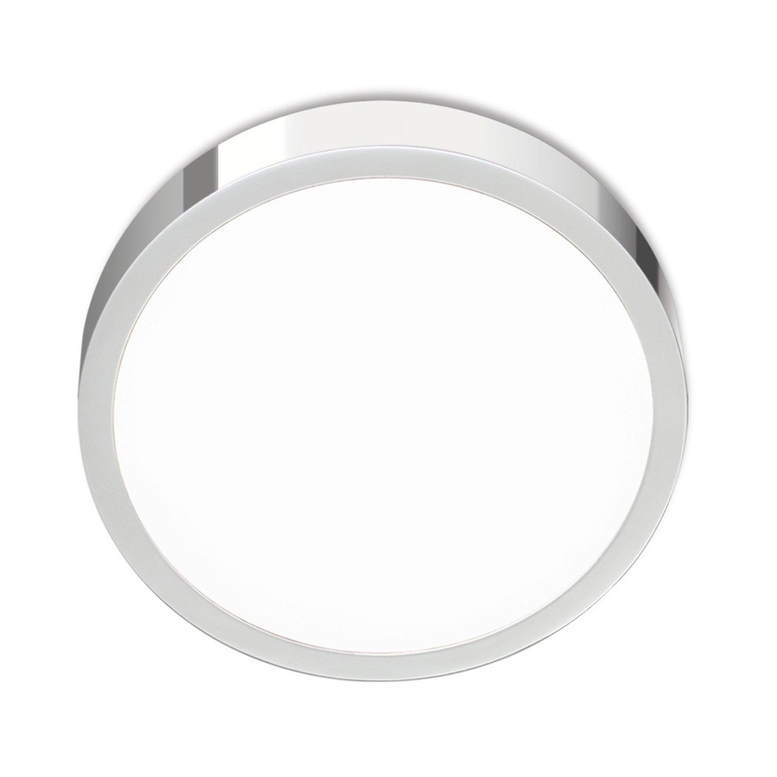 LED-taklampe Bully, krom 14 cm