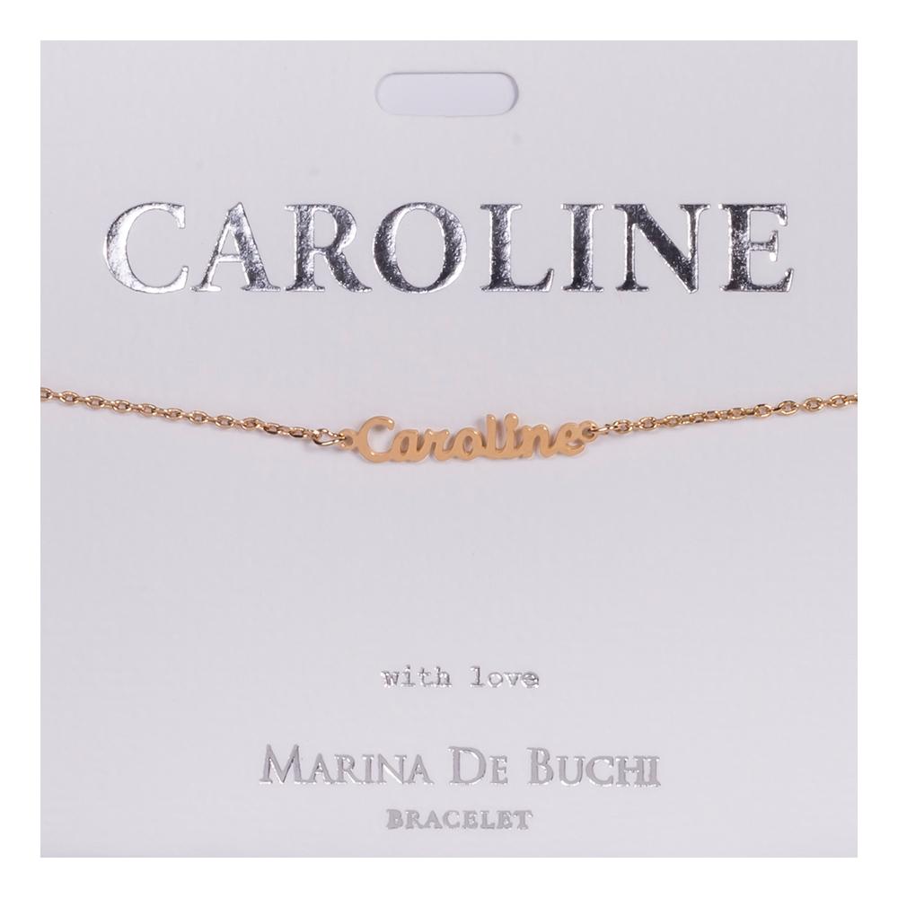 Namnarmband Guld - Caroline