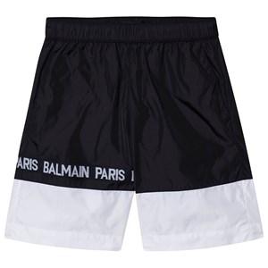 Balmain Logo Badbyxor Svart/Vit 8 years