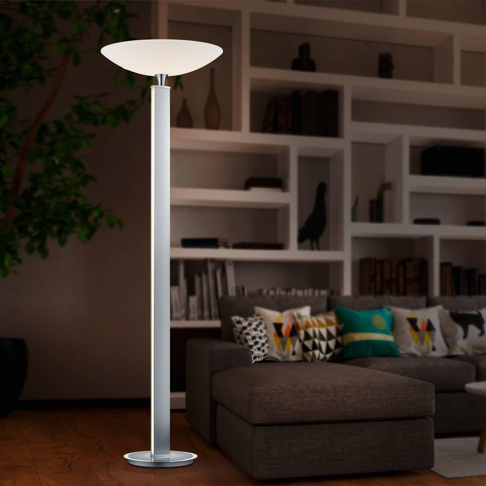 BANKAMP Pure F LED-uplight, nikkel