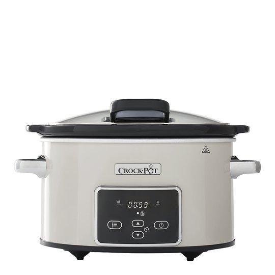 Crock-Pot - Crockpot Slowcooker med timer 3,5 L Off-white