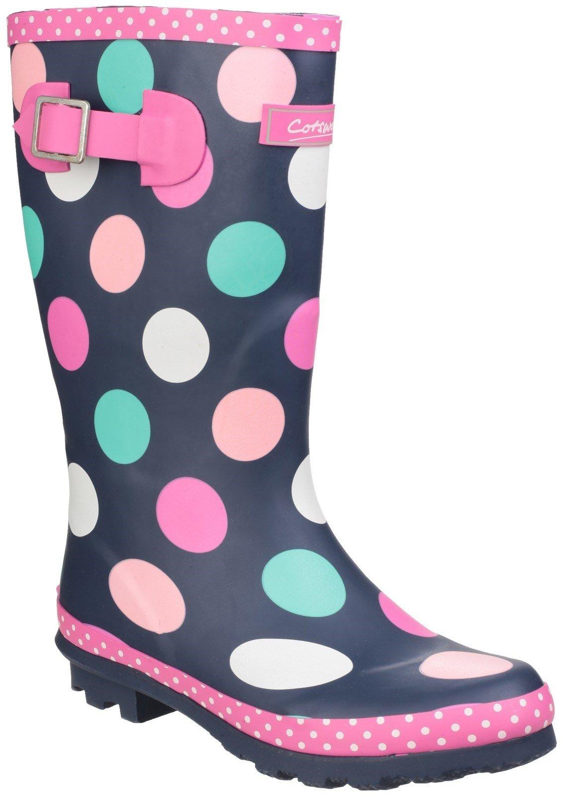 Cotswold Kids Dotty Jnr Pull On Wellington Boot Multicolor 24247 - Multicoloured 13