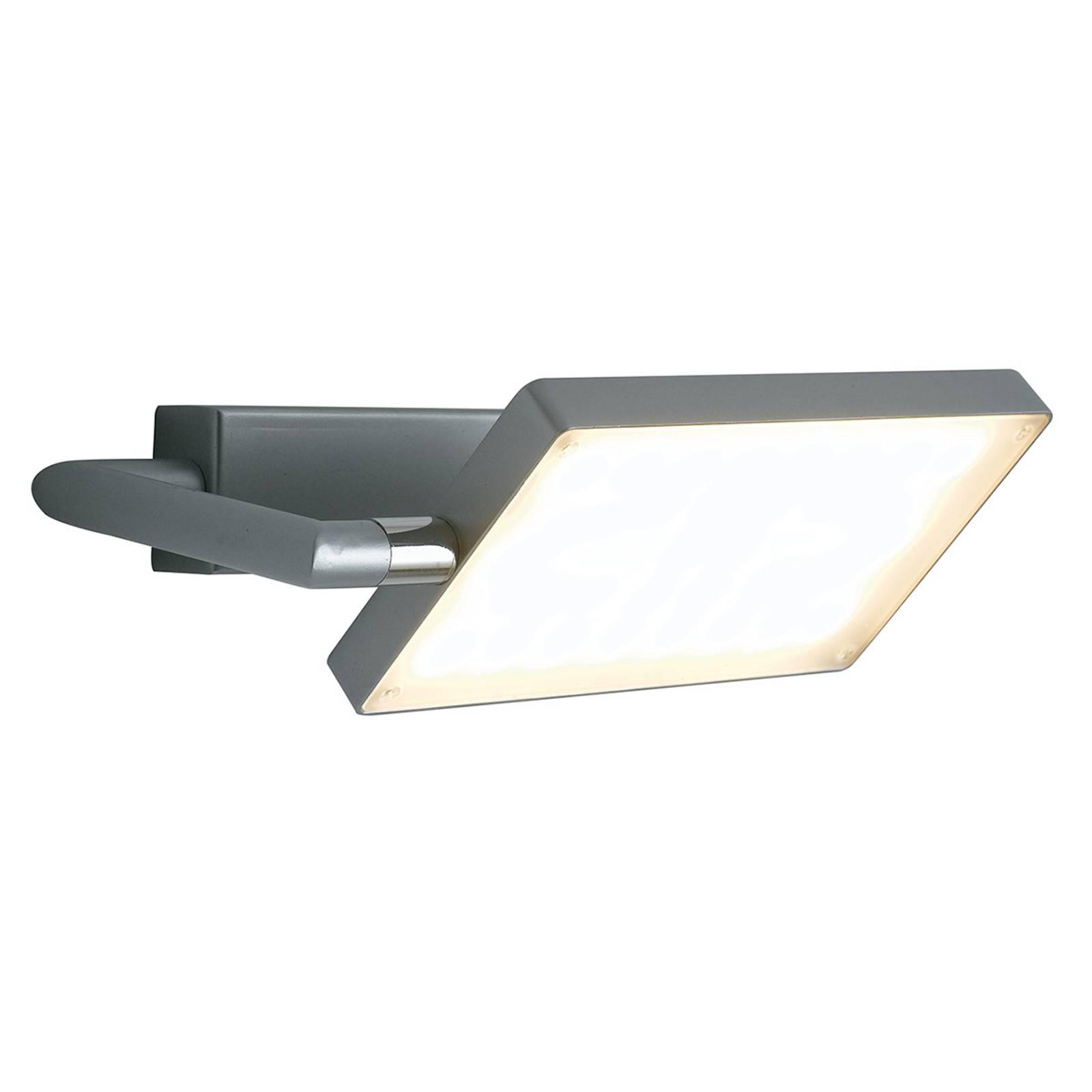 Book-LED-seinävalaisin, harmaa