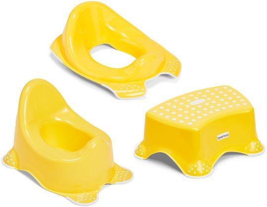 Beemoo Care Sklisikker Potte, Toalettsete og Krakk, Capri Yellow