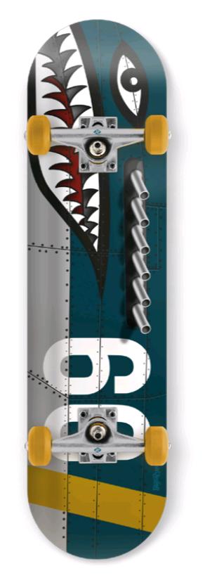 Streetsurfing - Skateboard - Shark Fire (10-03-011-4)