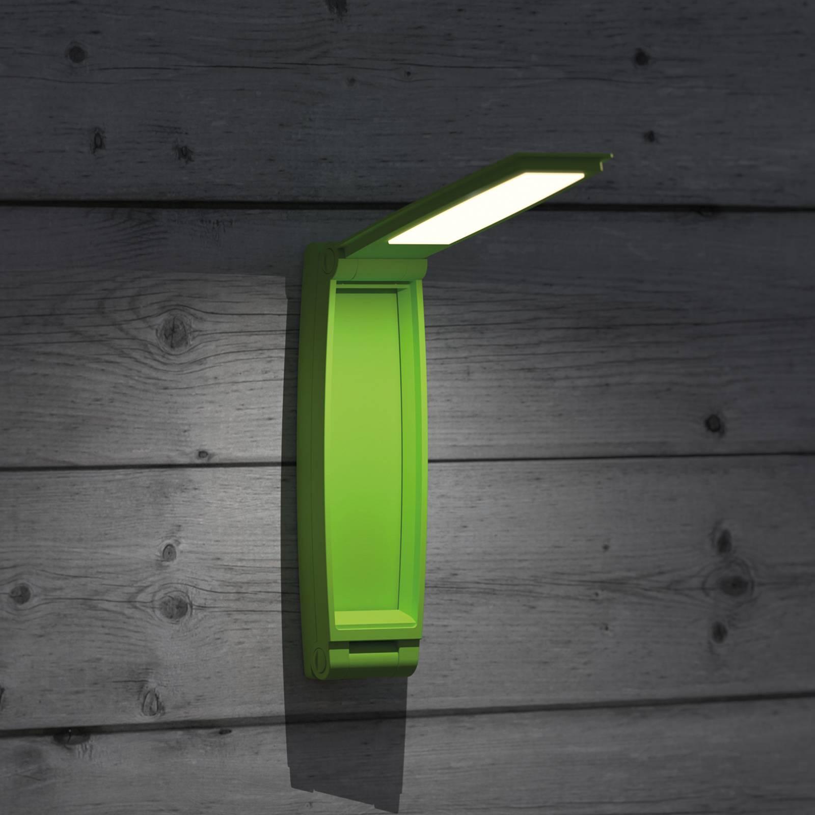 LED-pöytälamppu MAULzed, himmennys, akku, vihreä