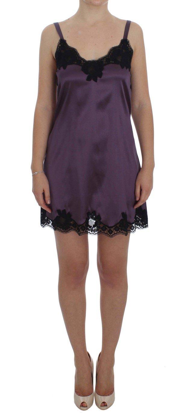 Dolce & Gabbana Women's Silk Lace Lingerie Dress Purple SIG30067 - IT1   XS