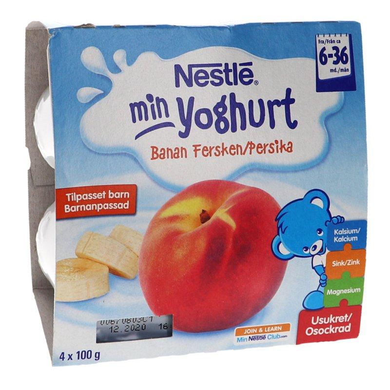 Barnmat Yoghurt, Persika & Banan 4-pack - 24% rabatt