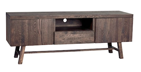Brooklyn TV-bänk Mörkbrun Ek 160 cm