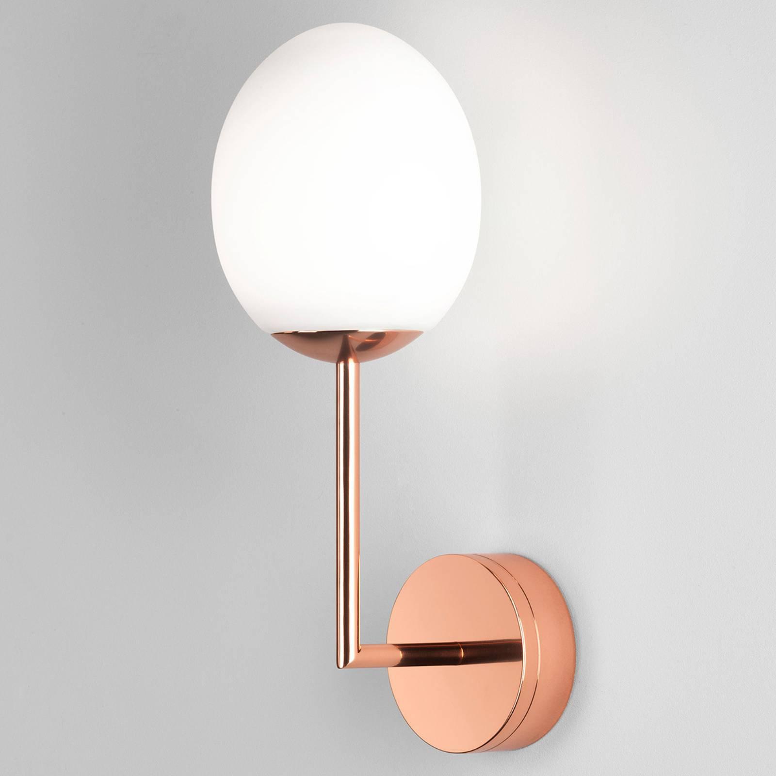 Astro Kiwi LED-vegglampe, kobberpolert