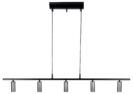 Cato LED 5-Skena Svart/Oxidgrå