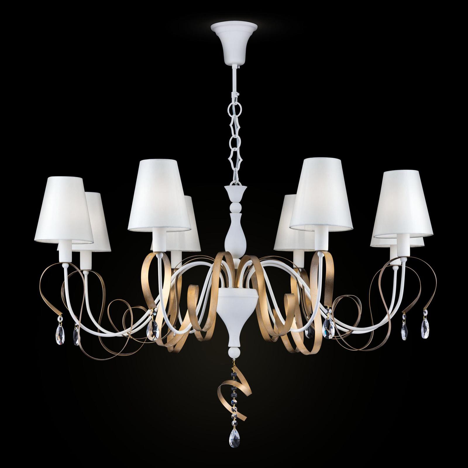 8-lamppuinen tekstiili-kattokruunu Intreccio