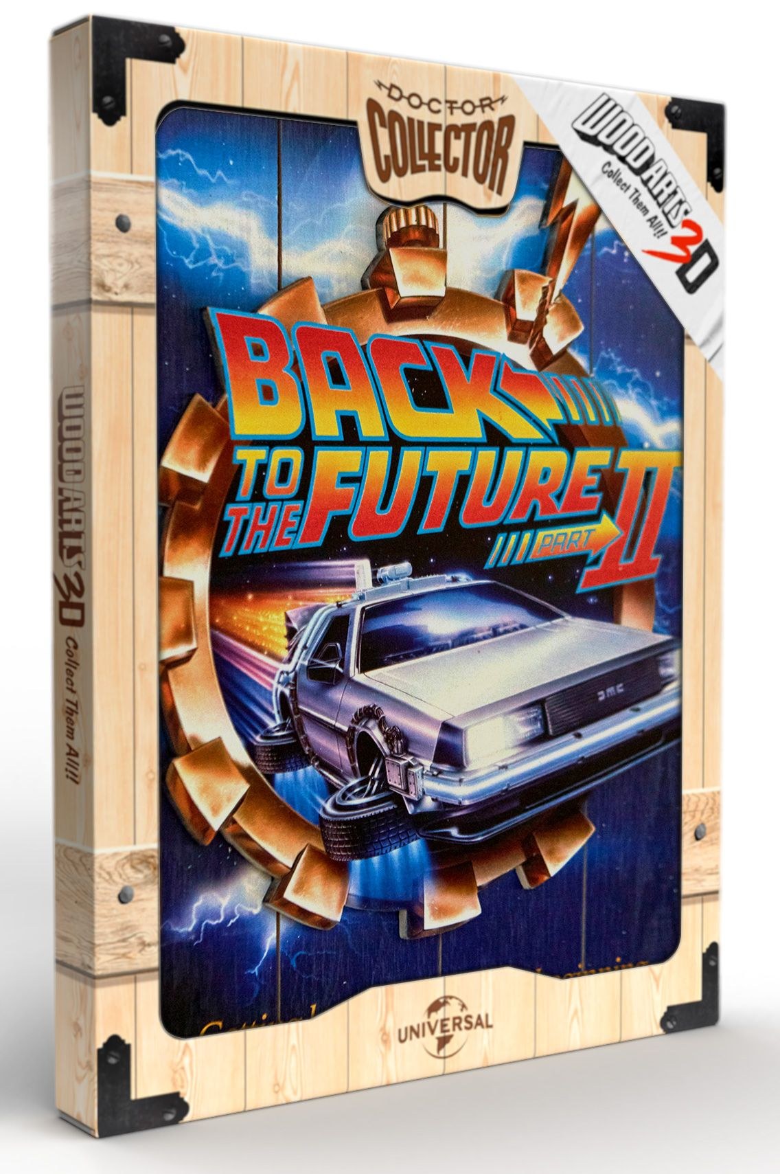 Back to the future WOOD POSTER BTTF2
