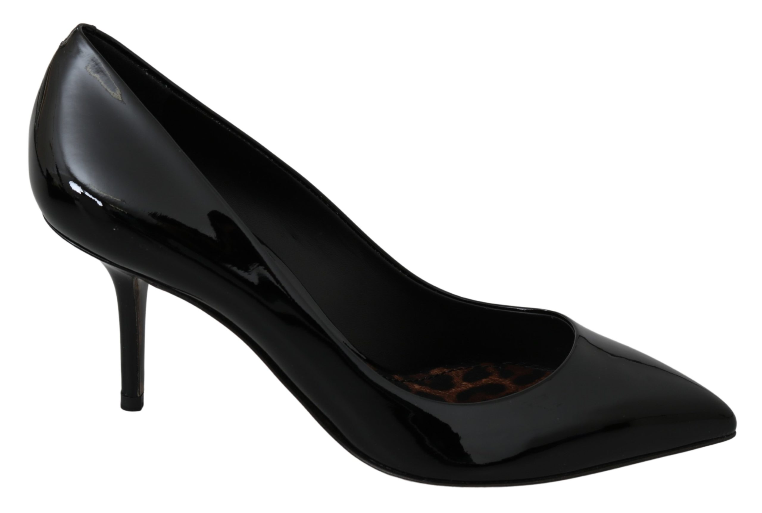 Dolce & Gabbana Women's Patent Leather High Pumps Black LA6872 - EU38/US7.5