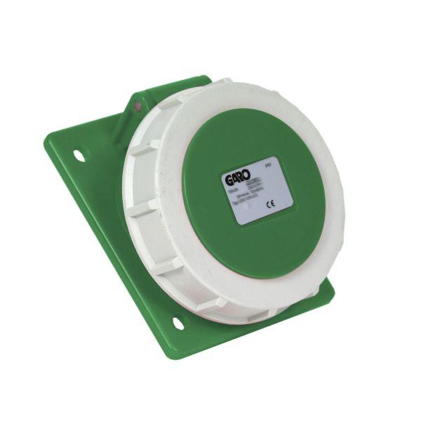 Garo UISV 316-10 S Paneelin ulostulo IP67, 4-napainen, 16A, viisto Vihreä, 10 h