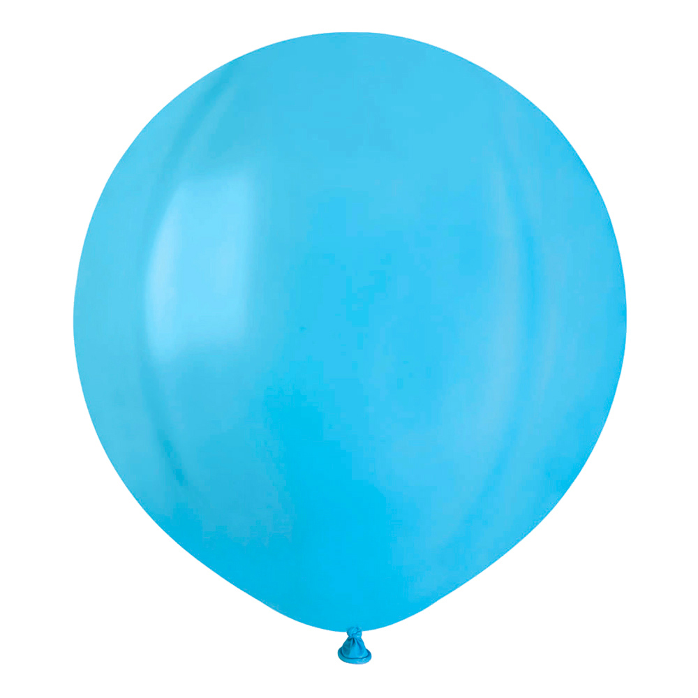 Ballonger Ljusblå Runda Stora - 10-pack