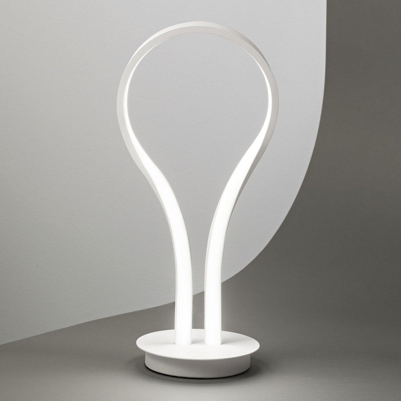 Swing LED-bordlampe av aluminium
