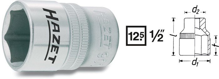 "Hylsa 1/2"" 25mm"