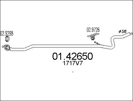 Pakoputki MTS 01.42650
