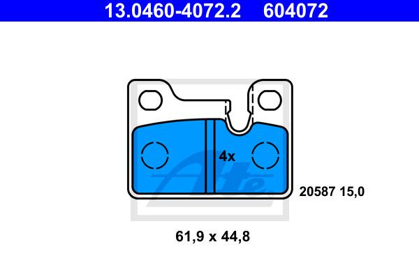 Jarrupalasarja, levyjarru ATE 13.0460-4072.2