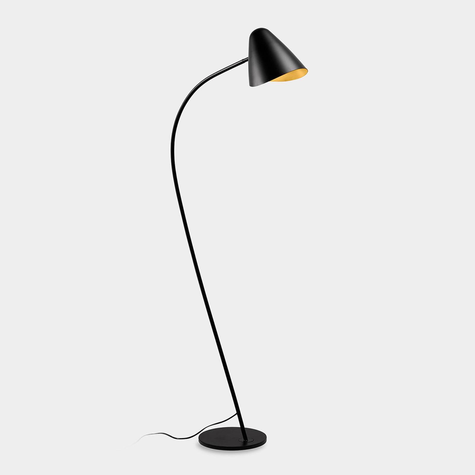 LEDS-C4 Organic gulvlampe, svingbart hode
