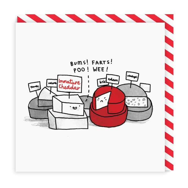 Immature Cheese Square Greeting Card
