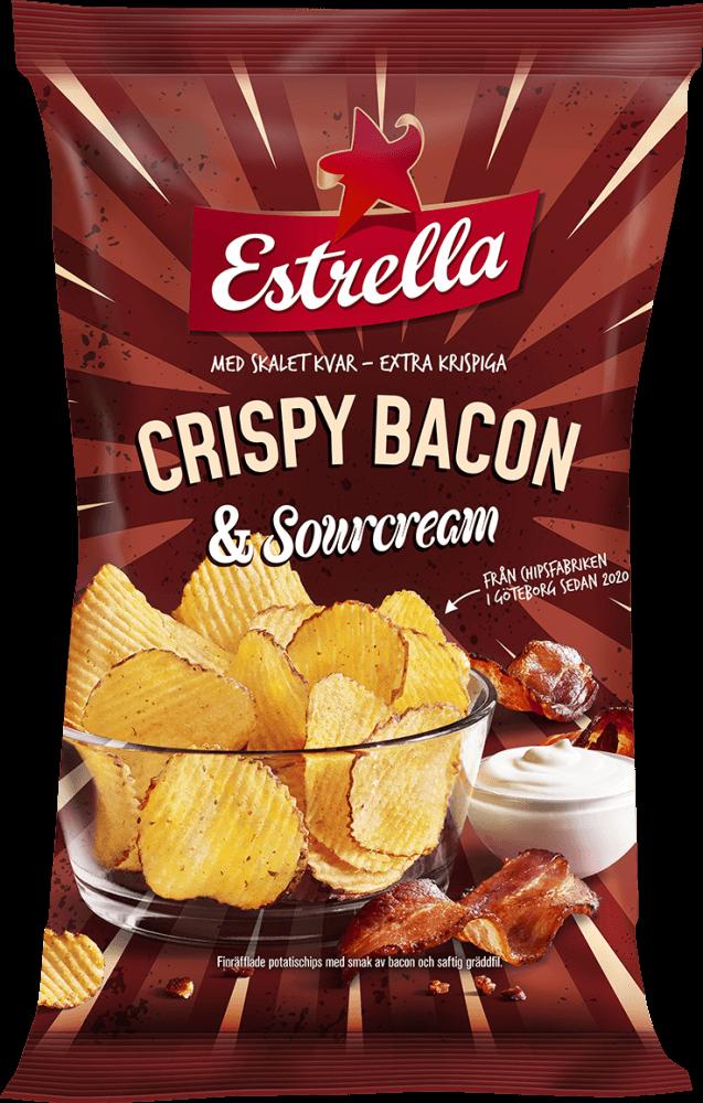 Estrella Crispy Bacon & Sourcream 175g