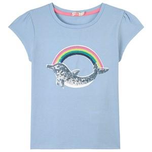Billieblush Dolphin T-shirt Ljusblå 2 år