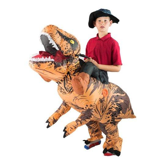 Uppblåsbar Ridande T-Rex Barn Maskeraddräkt - One size