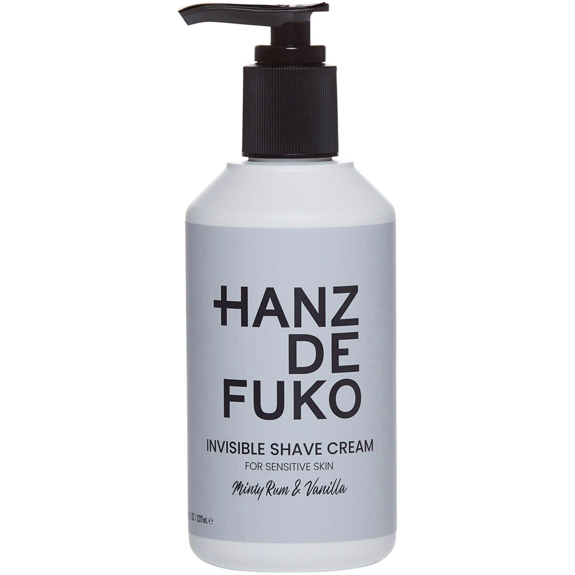 Hanz de Fuko Invisible Shave Cream, 237 ml Hanz de Fuko Parranajogeelit
