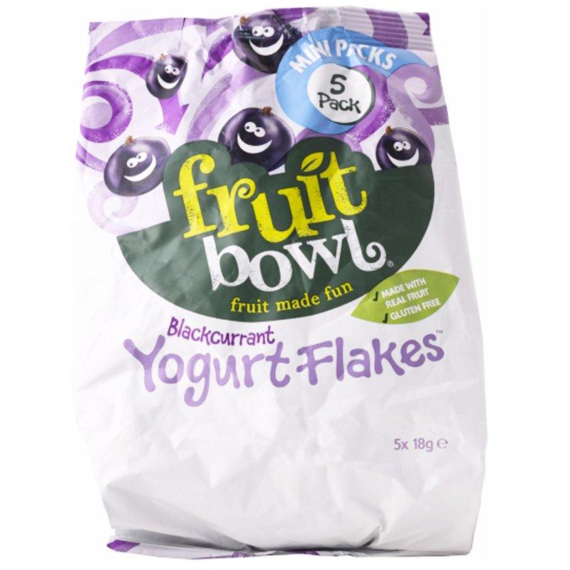"Fruktsnacks ""Blackcurrant Yoghurt Flakes"" 5 x 18g - 48% rabatt"