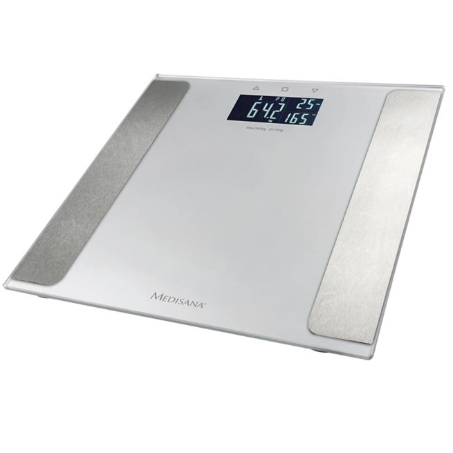 vidaXL Kroppsanalysvåg BS 410 Connect 180 kg silver