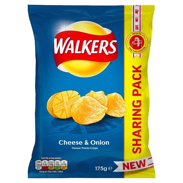 Walkers Cheese & Onion Chips 175g