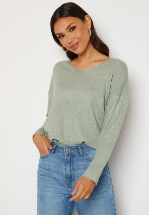 ONLY Rica Life L/S V-Neck Pullover Knit Chinois Green S