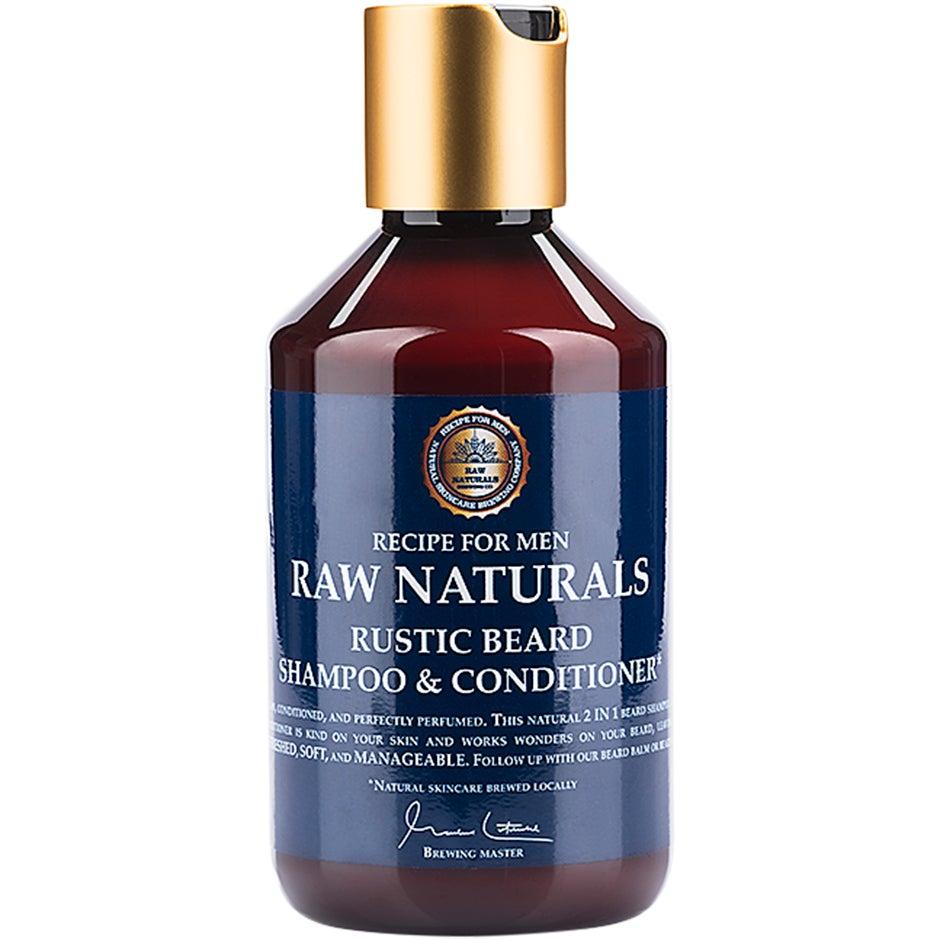 Raw Naturals Rustic Beard Shampoo & Conditioner, 250 ml Raw Naturals by Recipe for Men Partashampoo ja partahoitoaine