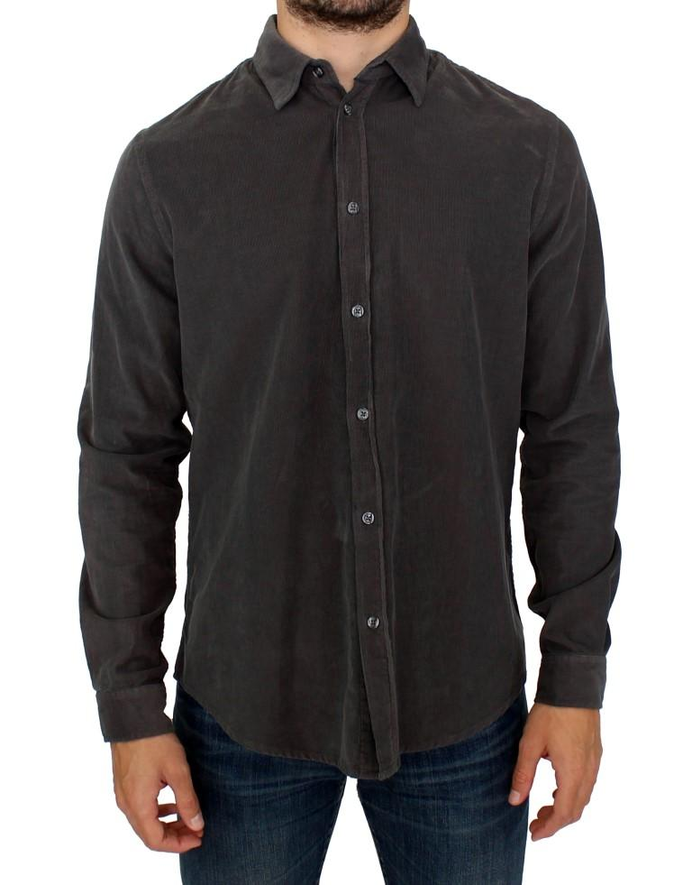 GF Ferre Men's Button Front Cotton Casual Shirt Green SIG10259 - IT48   M