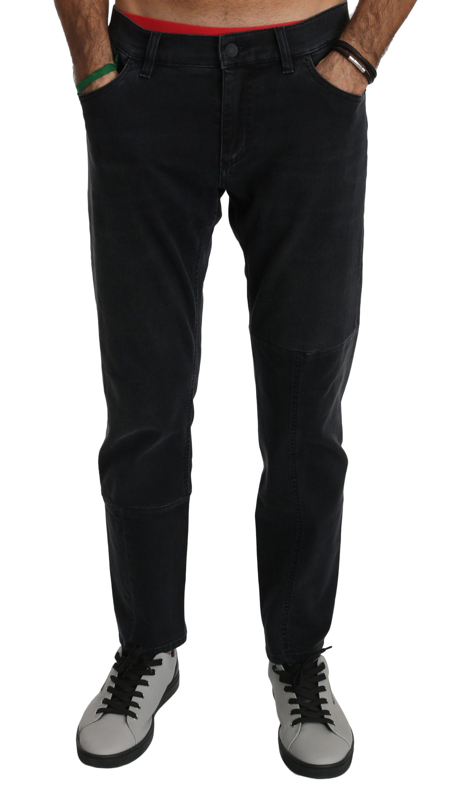 Dolce & Gabbana Men's Cotton Stretch Denim Jeans Black PAN70767 - IT50   L