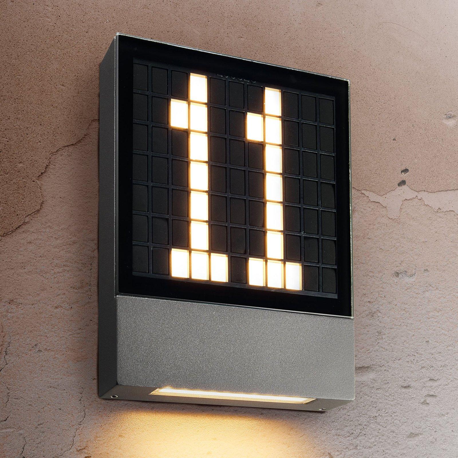 LED-husnummerlampe Pavia med pluggsystem
