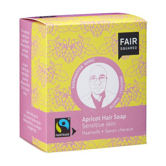 Fair Squared Apricot Hair Soap Sensitive Skin, 2 x 80 g