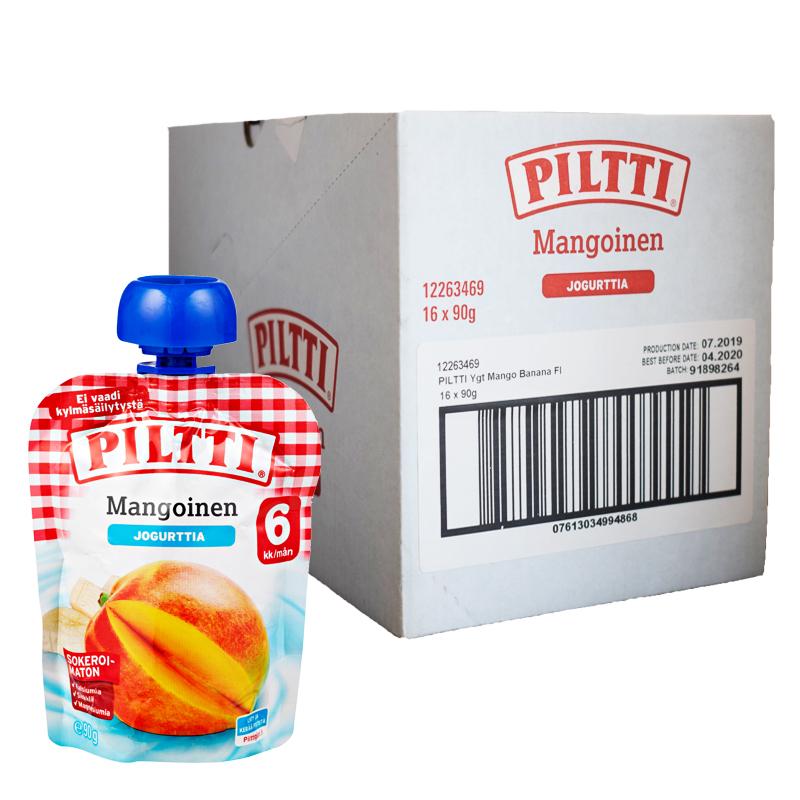 Lastenruoka Mangoinen Jogurtti 16kpl - 30% alennus