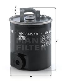 Polttoainesuodatin MANN-FILTER WK 842/19