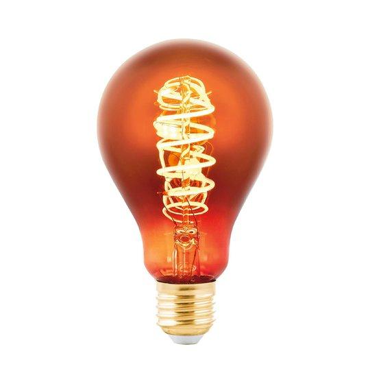 LED-lamppu E27 4W, hehkulamppu: huurrettu kupari