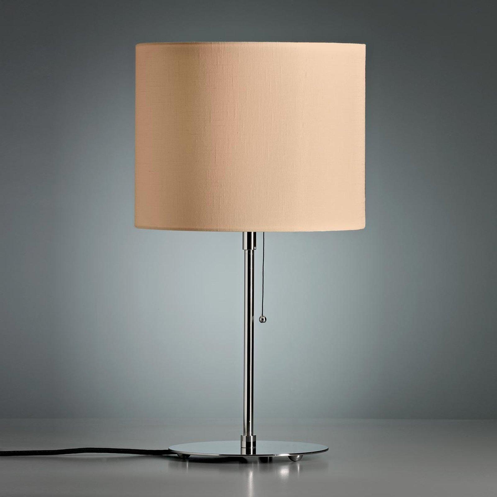 Bordlampe med farget linskjerm natur