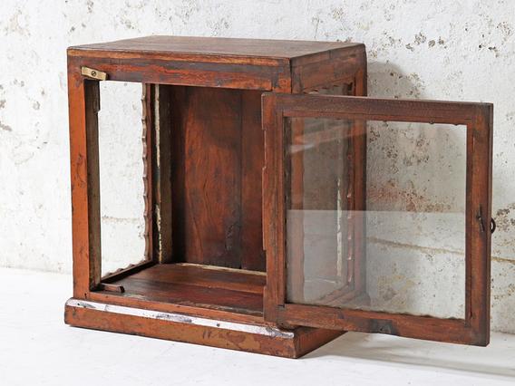 Vintage Display Case Brown