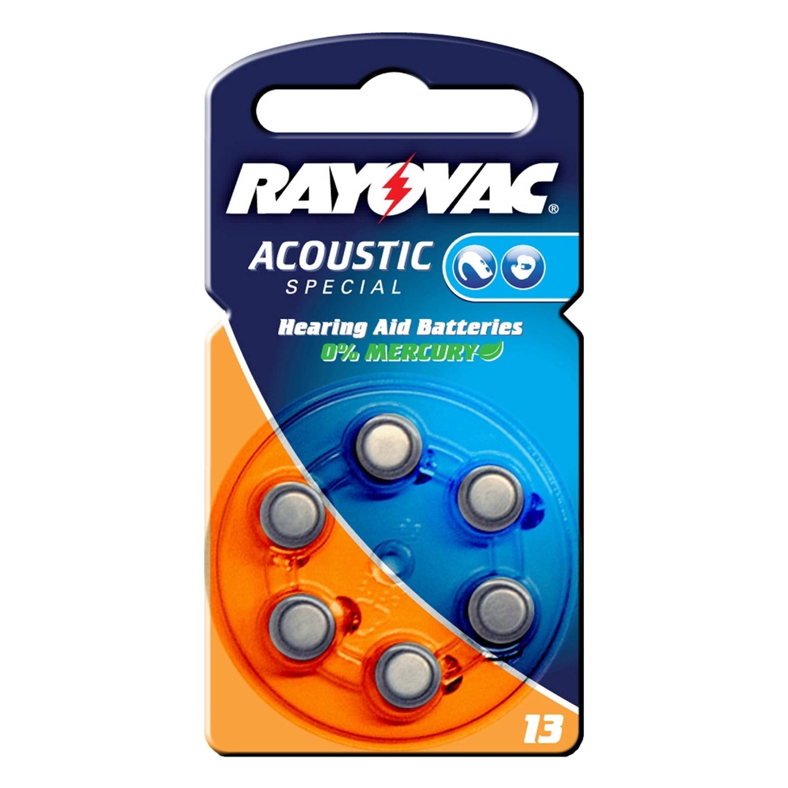Acoustic 1,4 V, 310m/Ah nappiparisto Rayovac 13
