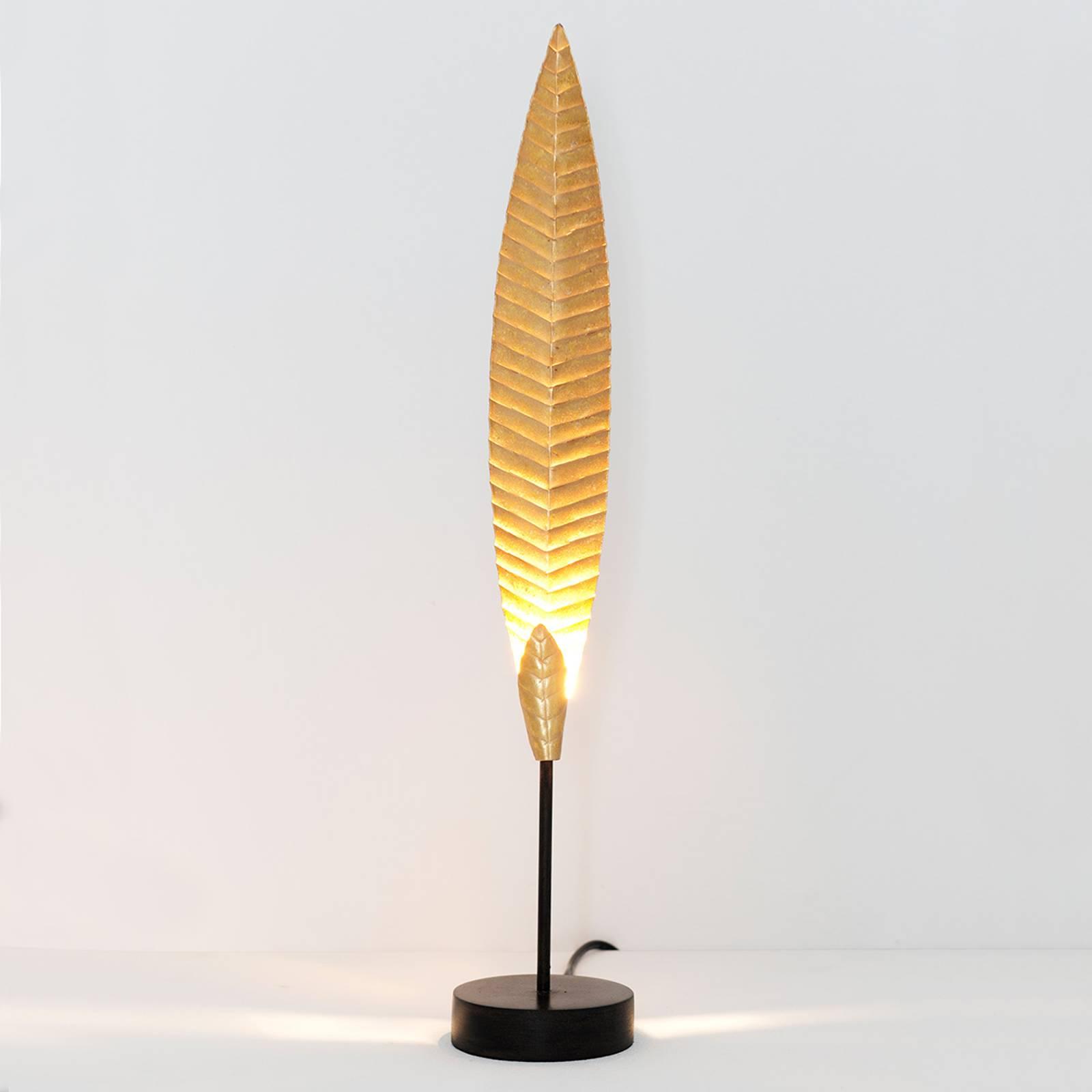 Pöytävalaisin Penna, kulta, korkeus 51 cm
