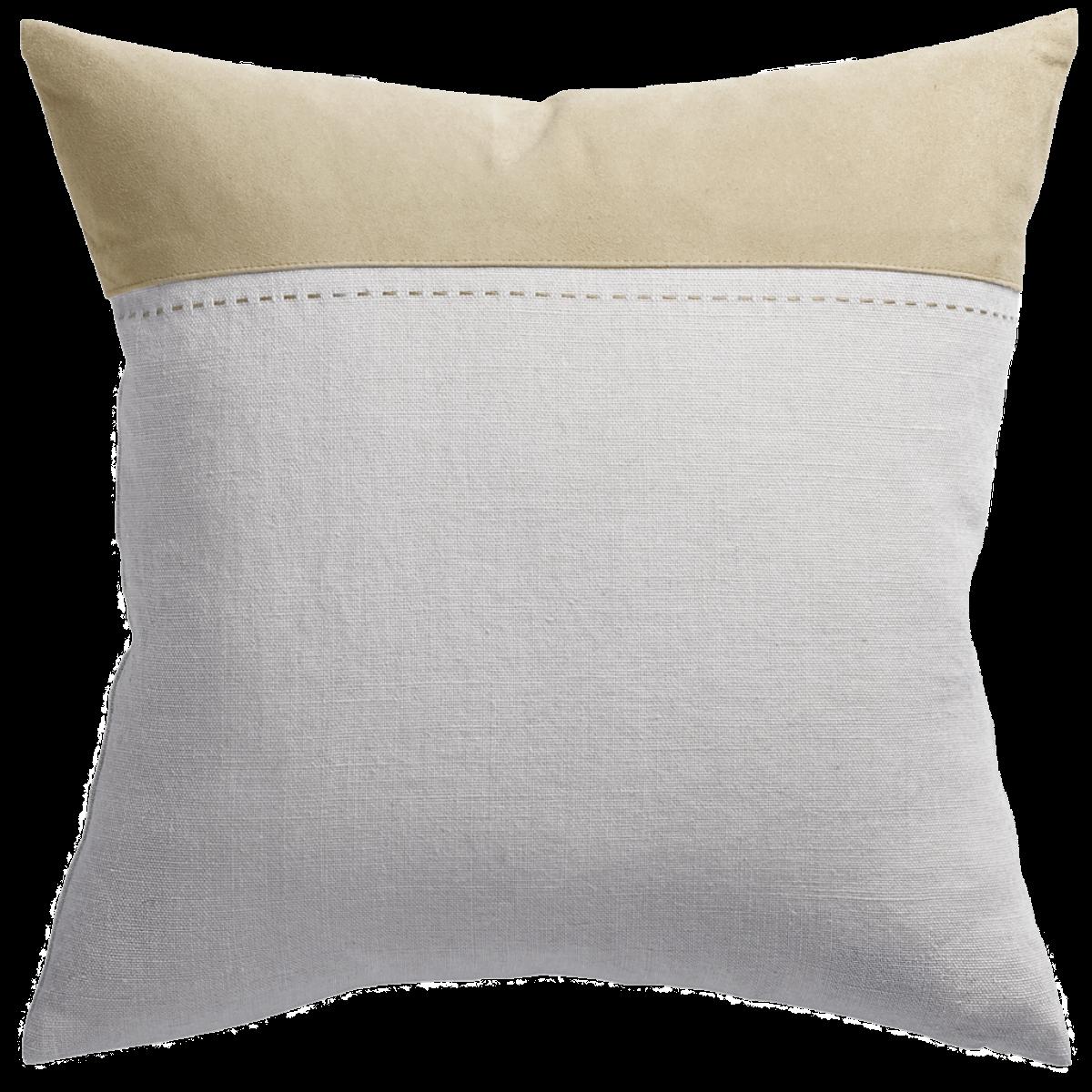 de Le Cuona | Bracken Cushion With Suede Panel Seed