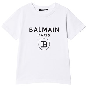 Balmain Branded T-shirt Vit 8 years